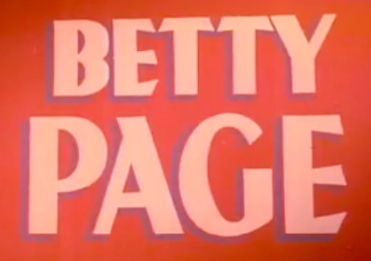 Bettie Betty Page Sign Logo