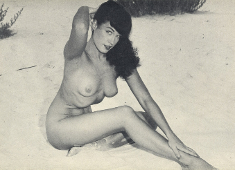 Bettie Betty Page loved the nude beach