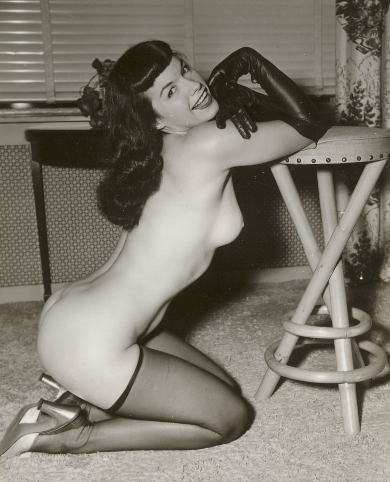Creative poser Bettie Betty Page